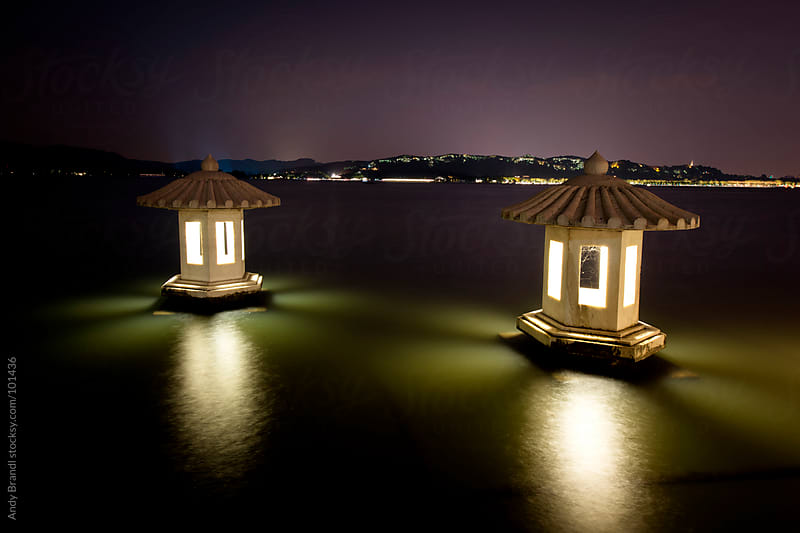 Night Lights (West Lake) by Andy Brandl for Stocksy United