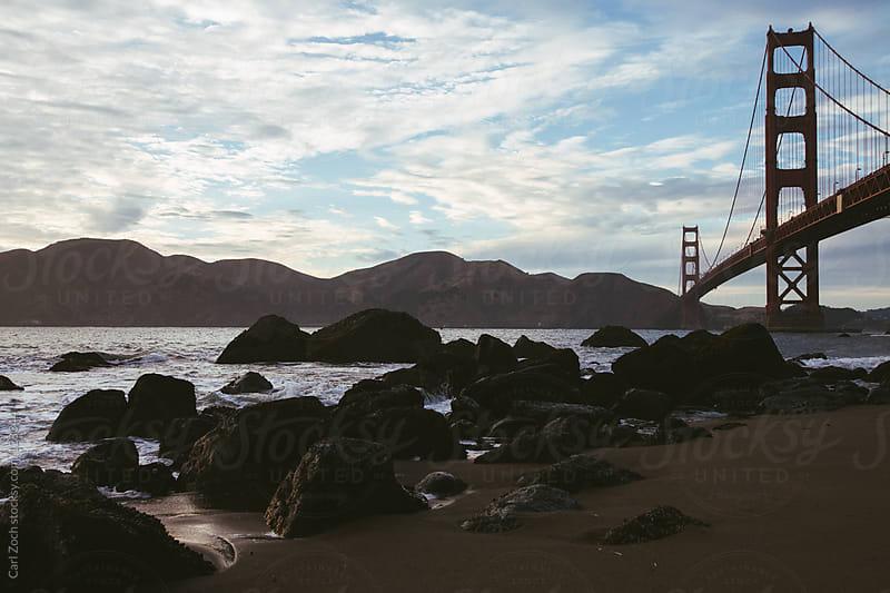 Golden Gate Bridge at Sunset by Carl Zoch for Stocksy United