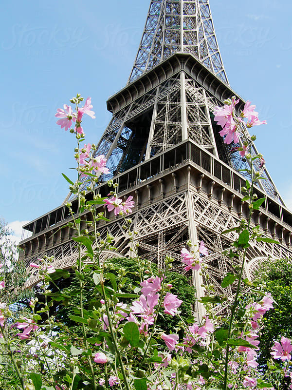 Eiffel tower in the springtime by Chelsea Victoria for Stocksy United