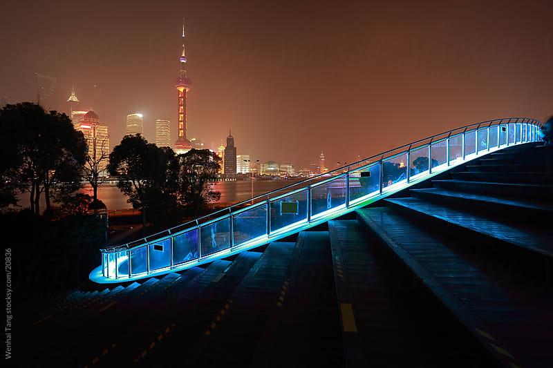 Lujiazui of Shanghai bund at New landmark skyline by Wenhai Tang for Stocksy United
