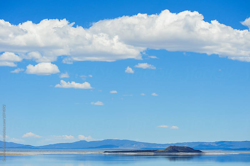 Clouds, Mono Lake, CA by Shannon Aston for Stocksy United