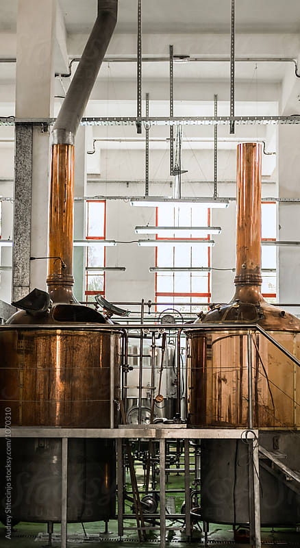 Old brewery complex /distillery with mechanization. by Marko Milanovic for Stocksy United