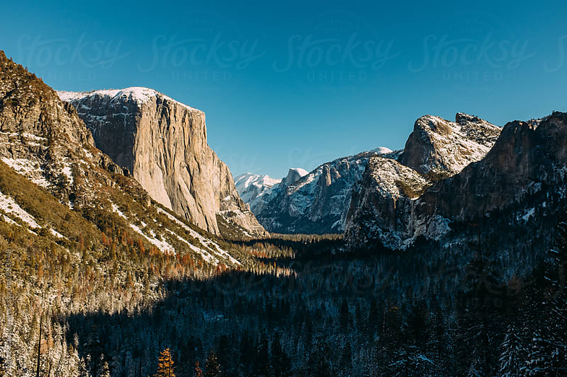 Yosemite Valley in the winter. by Lucas Saugen for Stocksy United
