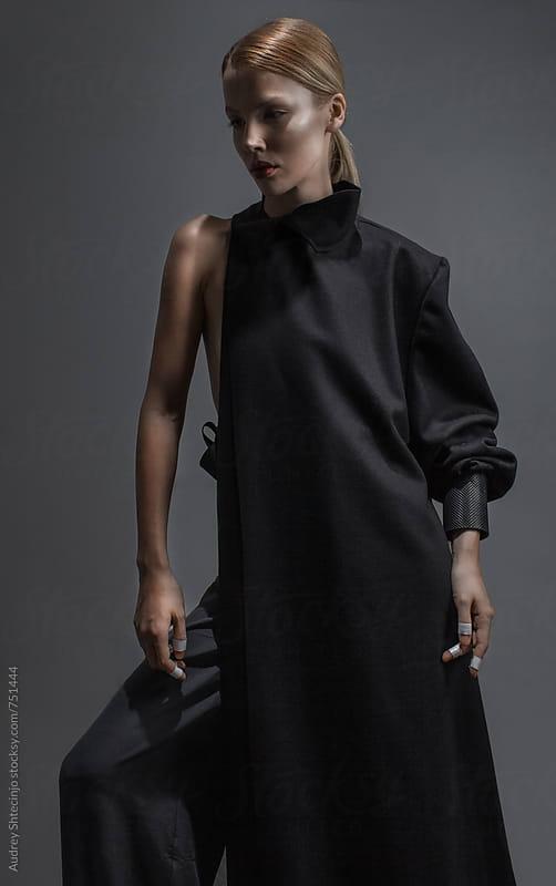fashion/fine art portrait od model by Marko Milanovic for Stocksy United
