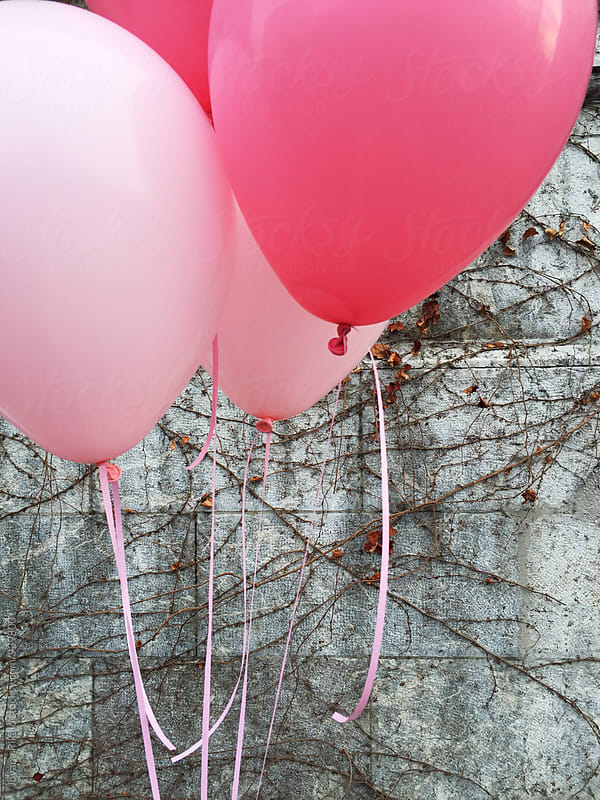 Pink balloons by Jovana Rikalo for Stocksy United