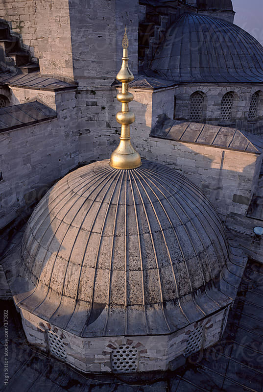 Close-up view of minaret of the Blue Mosque. Istanbul. Turkey. by Hugh Sitton for Stocksy United