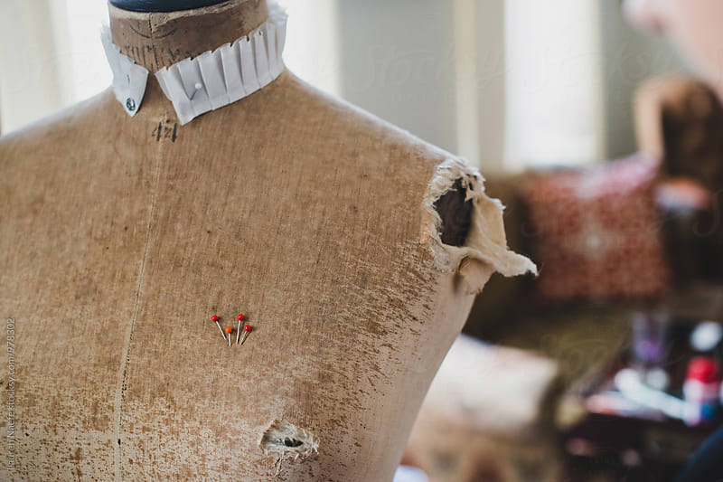 Pins in a mannequin dummy by Lauren Naefe for Stocksy United
