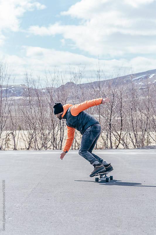 Skateboarder skating by Søren Egeberg Photography for Stocksy United