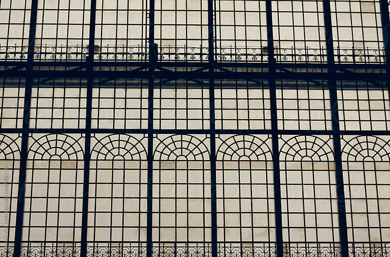 High windows of an old train station by Denni Van Huis for Stocksy United