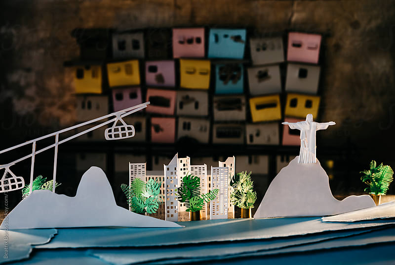 Rio de Janeiro, Brazil, with its symbols and the sea by Beatrix Boros for Stocksy United