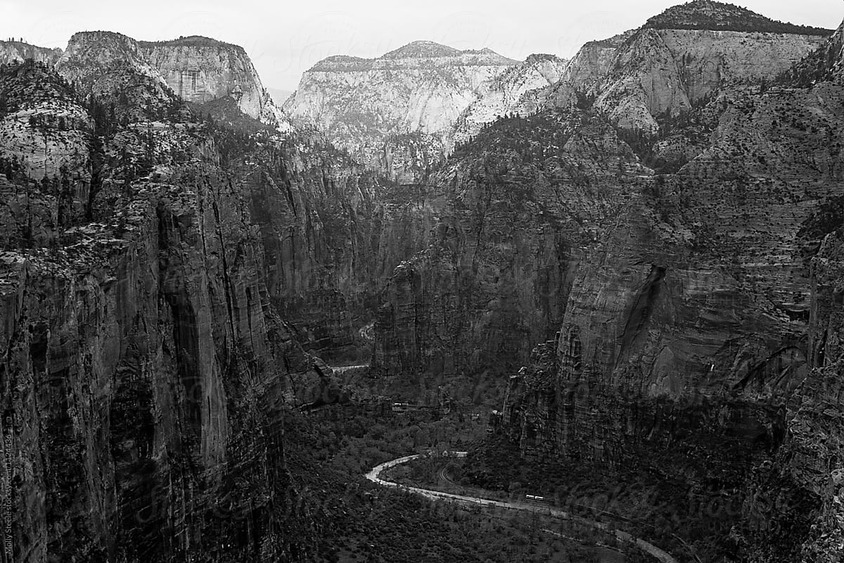 Angels landing view in zion national park