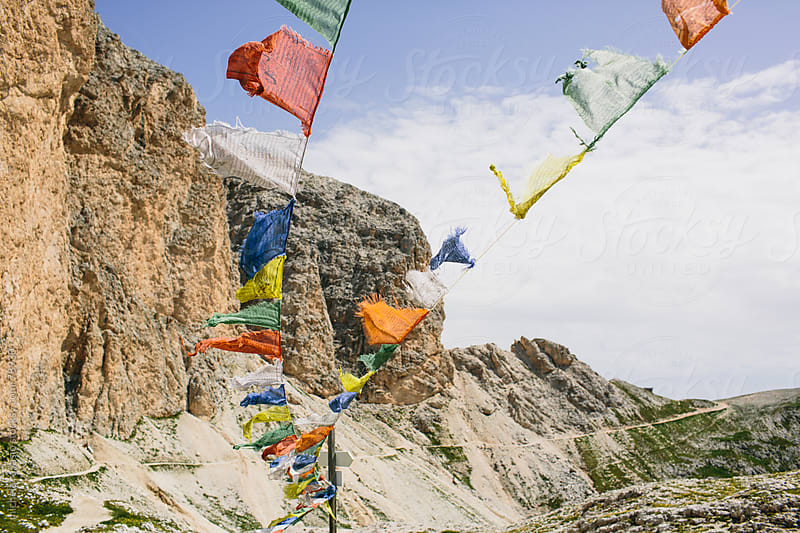 Tibetan Prayer Flags by michela ravasio for Stocksy United