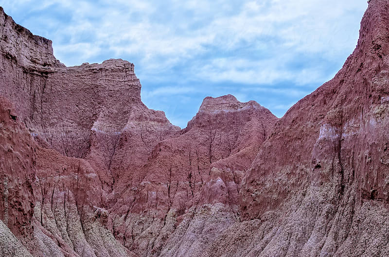 Stunning pinkish-purple sandy rocks in Tatacoa desert by Alice Nerr for Stocksy United