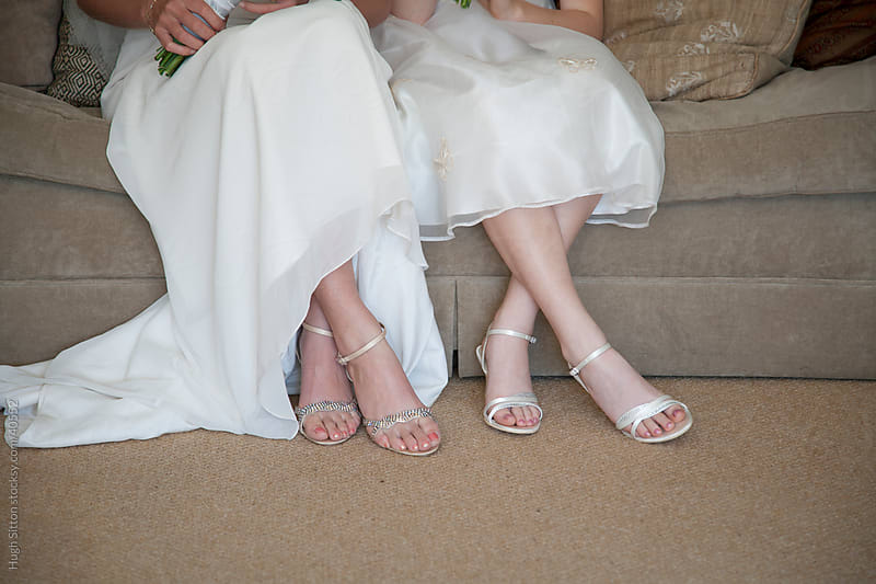 Bride and Flower Girl. by Hugh Sitton for Stocksy United