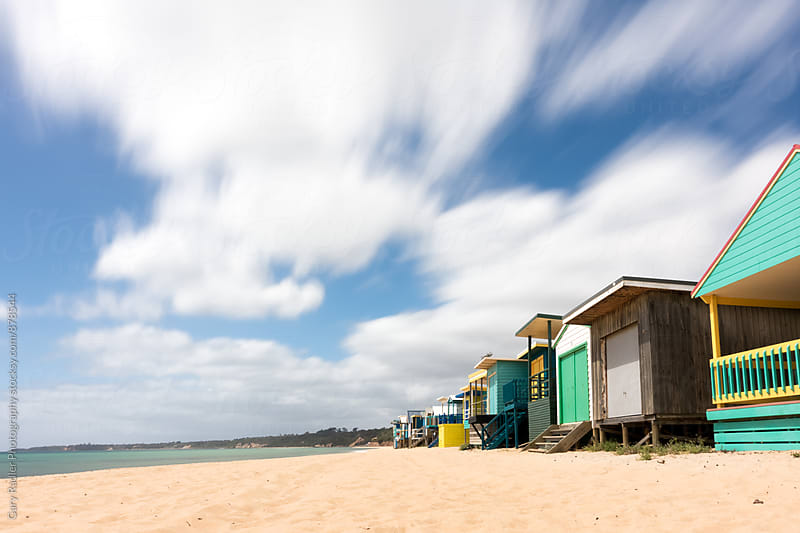Bathing Boxes on Port Phillip Bay, Victoria, Australia by Gary Radler Photography for Stocksy United