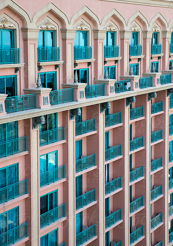 Hotel balconies by Ruth Black for Stocksy United
