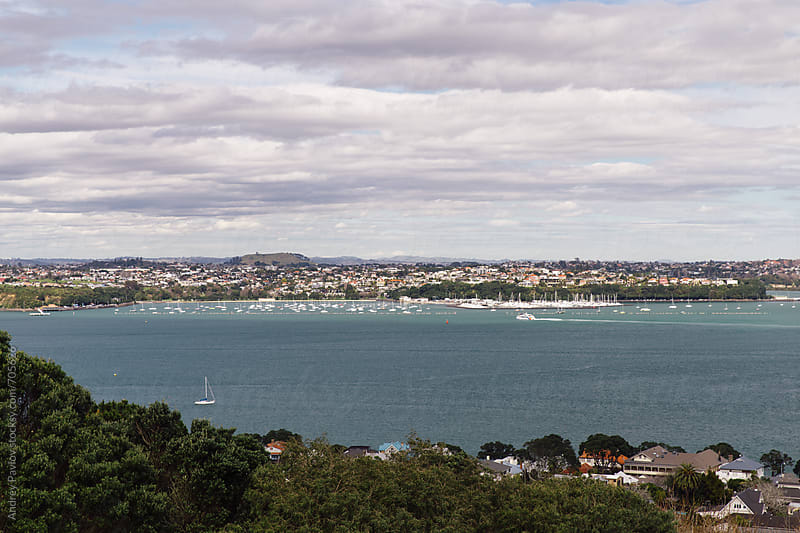 View of Auckland from Devonport by Andrey Pavlov for Stocksy United