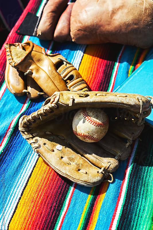 Baseball gloves and ball. by BONNINSTUDIO for Stocksy United