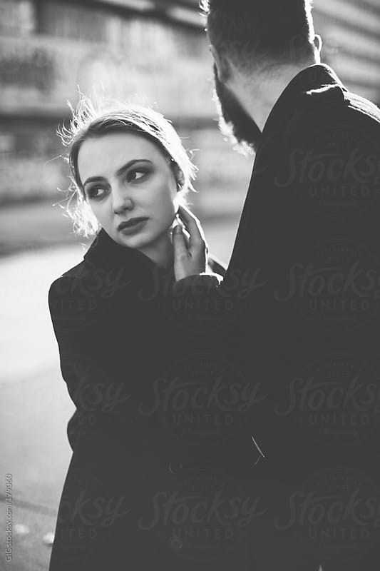 Hipster young couple urban portrait  by GIC for Stocksy United