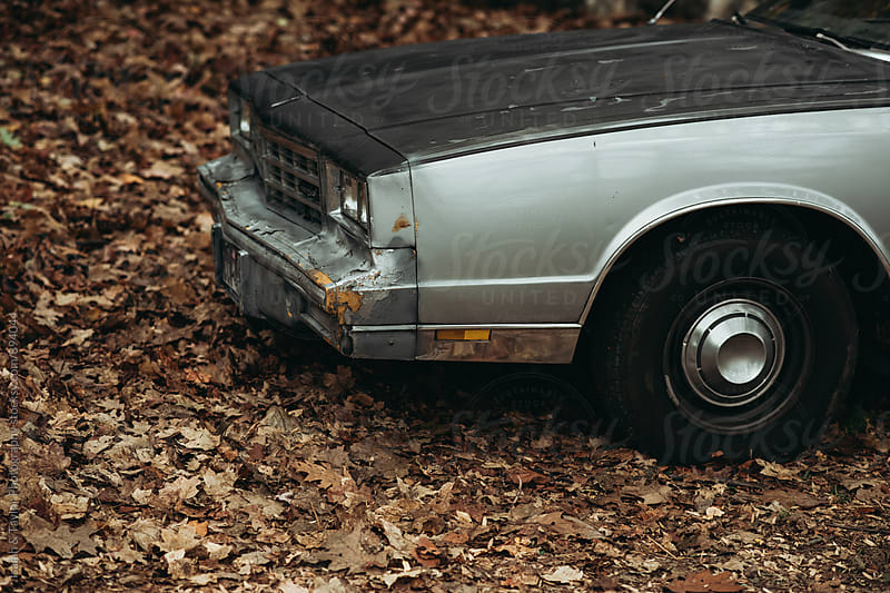 Detail of old car by Isaiah & Taylor Photography for Stocksy United