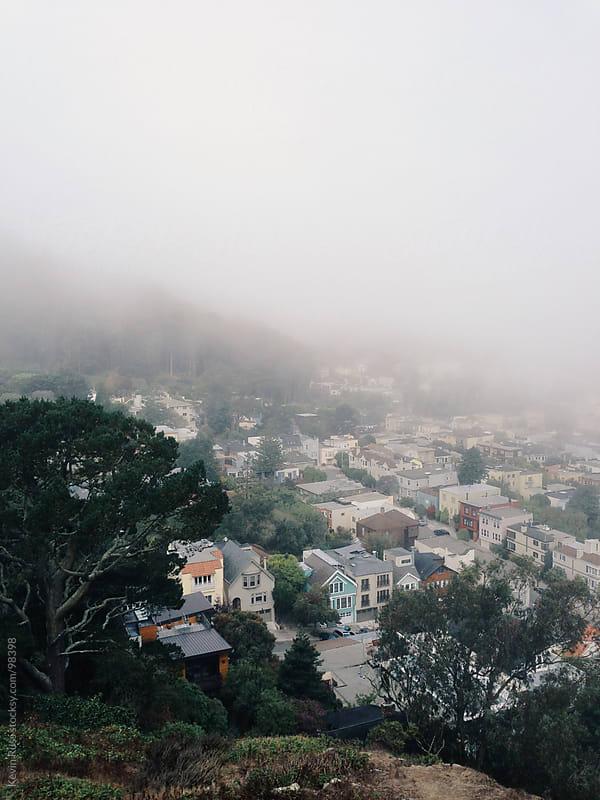 Foggy San Francisco Neighborhood by Kevin Russ for Stocksy United