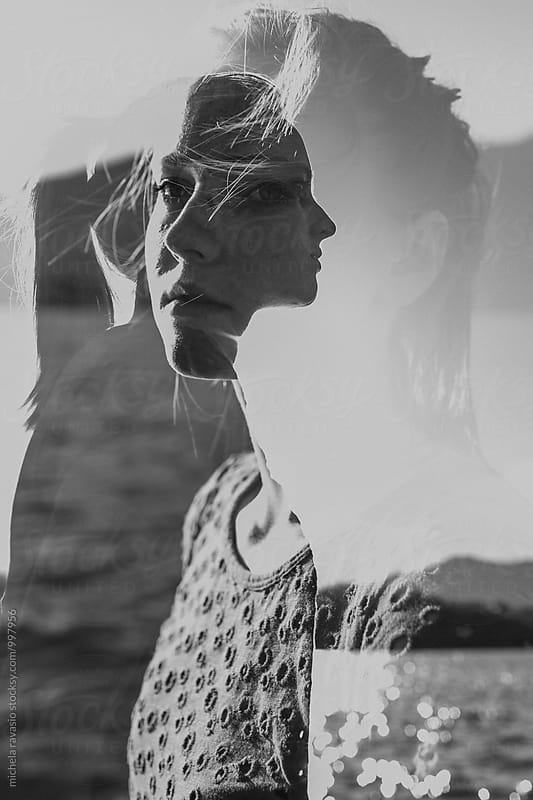 Double exposure of teenager by michela ravasio for Stocksy United