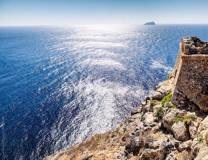 Sunlight reflecting on Mediterranean Sea in Crete (Greece) by Ivan Bastien for Stocksy United