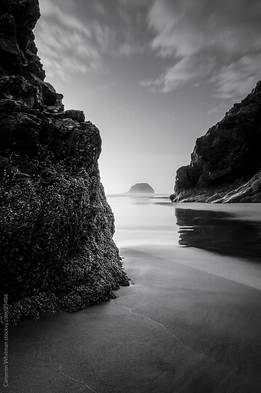 Acadia Beach Sunset, Oregon Coast by Cameron Whitman for Stocksy United