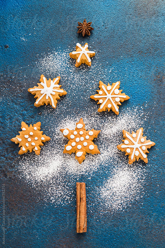 Christmas cookies  by Aniko Lueff Takacs for Stocksy United