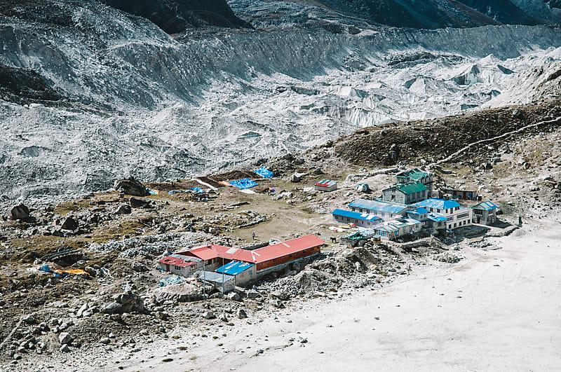 Gorak Shep village Everest Region, Sagarmatha National Park, Nepal. by Thomas Pickard for Stocksy United