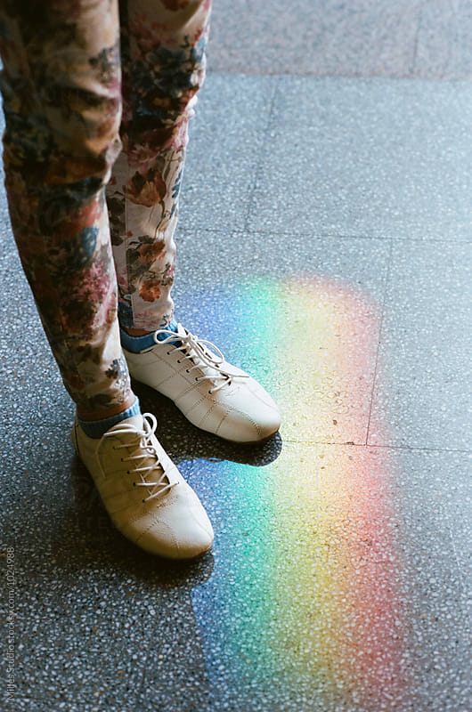 Woman and rainbow by Milles Studio for Stocksy United