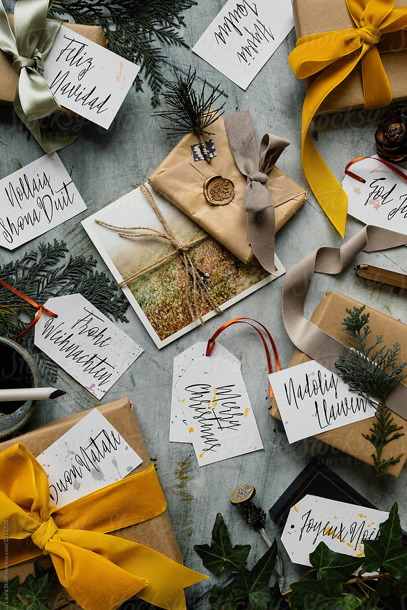 Buon Natale Meaning In English.Wrapping Gifts For Christmas With Ribbons Wax Stamps And