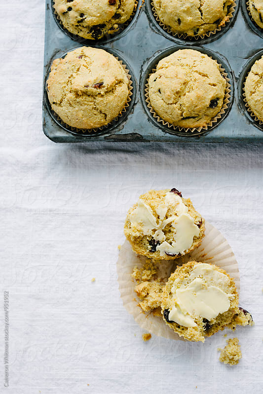 Cranberry Cornbread Muffins by Cameron Whitman for Stocksy United