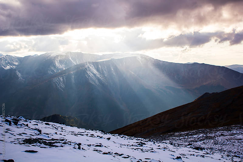 Beautiful landscape of mountains bathed in sunlight by Danil Nevsky for Stocksy United