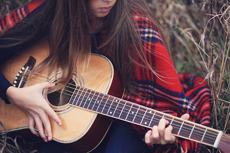 Girl Playing the Guitar - Close Up by ALICIA BOCK for Stocksy United