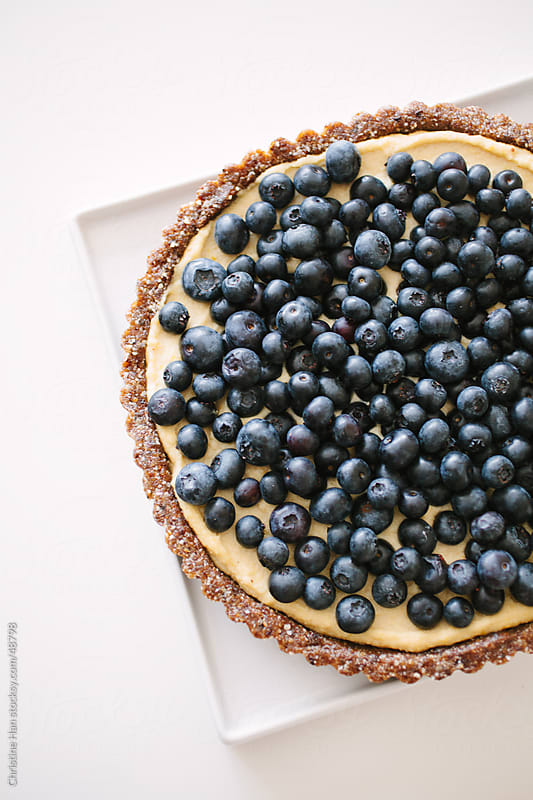 Fresh Blueberry Tart Dessert by Christine Han for Stocksy United