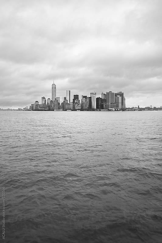 Vertical Skyline of Manhattan south by ACALU Studio for Stocksy United