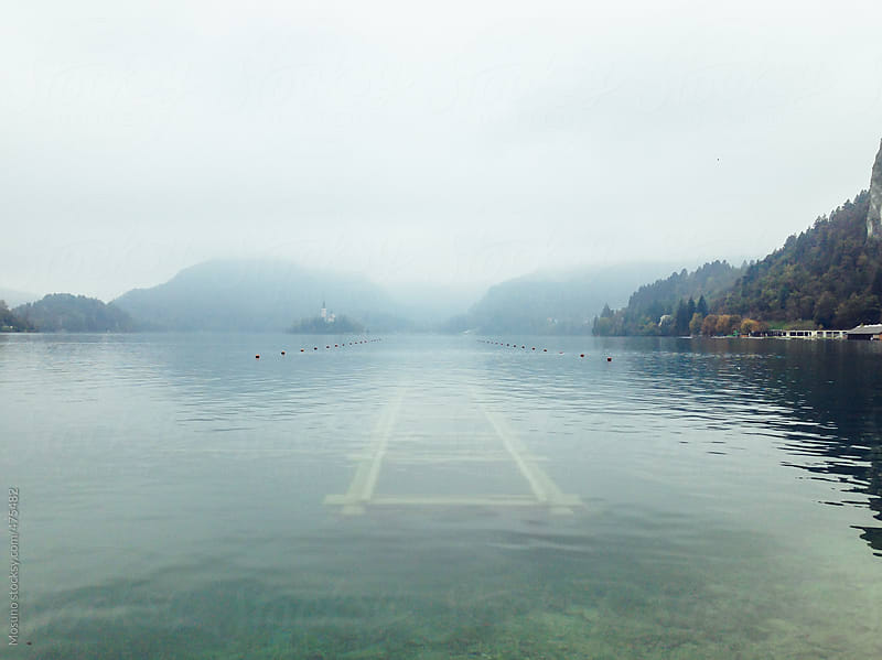 Underwater Dock in the Lake  by Mosuno for Stocksy United
