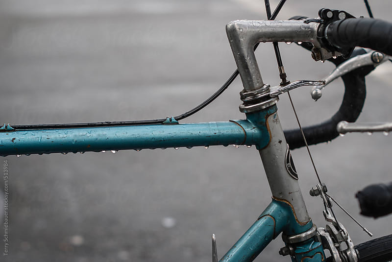 City Bike in the Rain by Terry Schmidbauer for Stocksy United