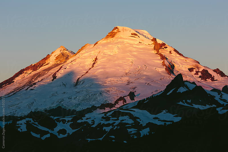 Mt Baker at sunrise by Cameron Zegers for Stocksy United