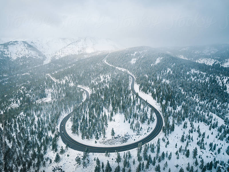 Winter Highway by Casey McCallister for Stocksy United