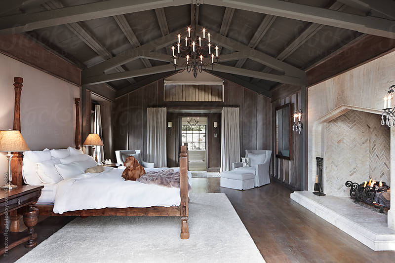 Bedroom in luxury home by Trinette Reed for Stocksy United
