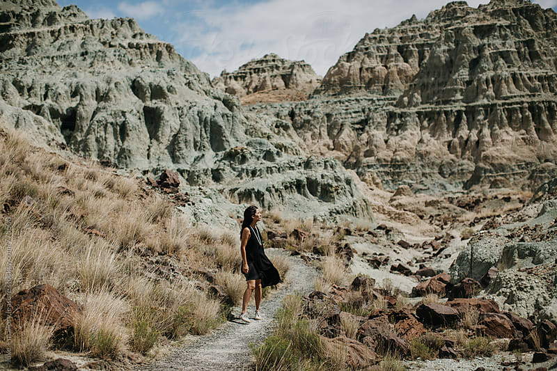 Girl in Blue Desert by luke + mallory leasure for Stocksy United