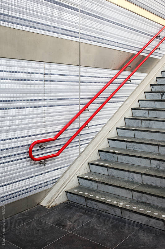 Stairs at a railway station by Marcel for Stocksy United