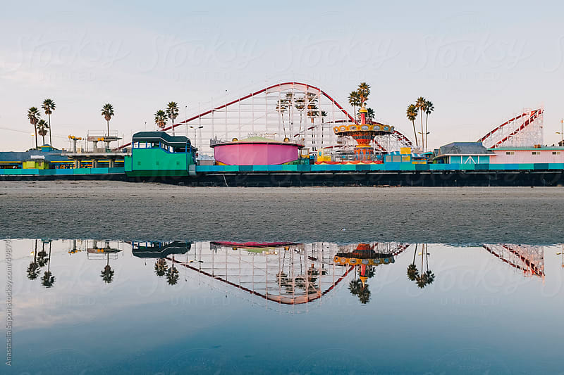 Santa Cruz boardwalk by Anastasiia Sapon for Stocksy United