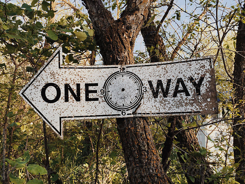 Old one-way sign by Carey Shaw for Stocksy United