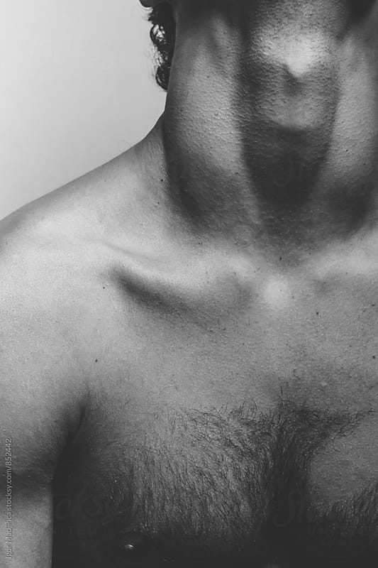 faceless, portrait of a handsome man ,body,gym,sexy by Igor Madjinca for Stocksy United