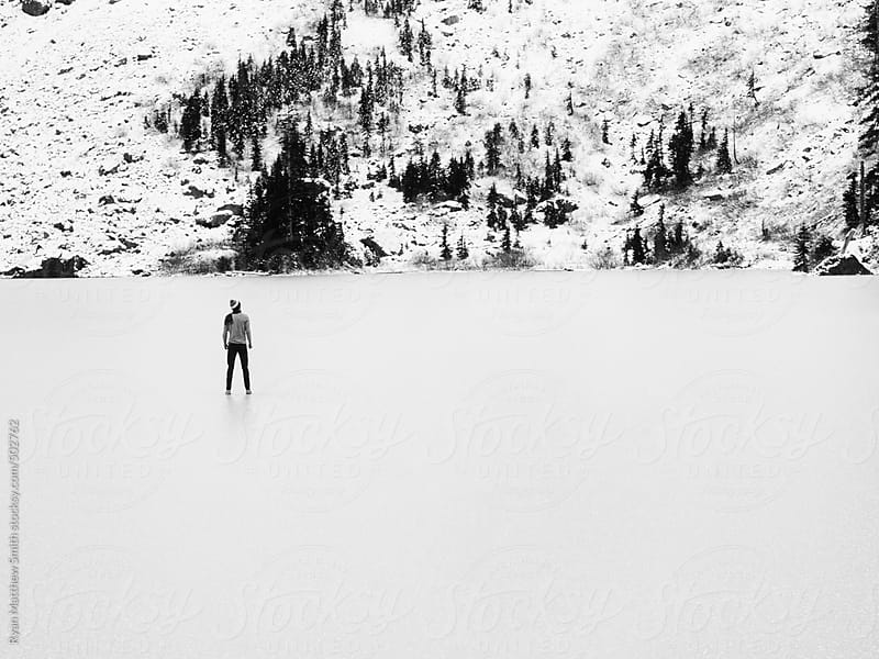 Figure On Ice by Ryan Matthew Smith for Stocksy United