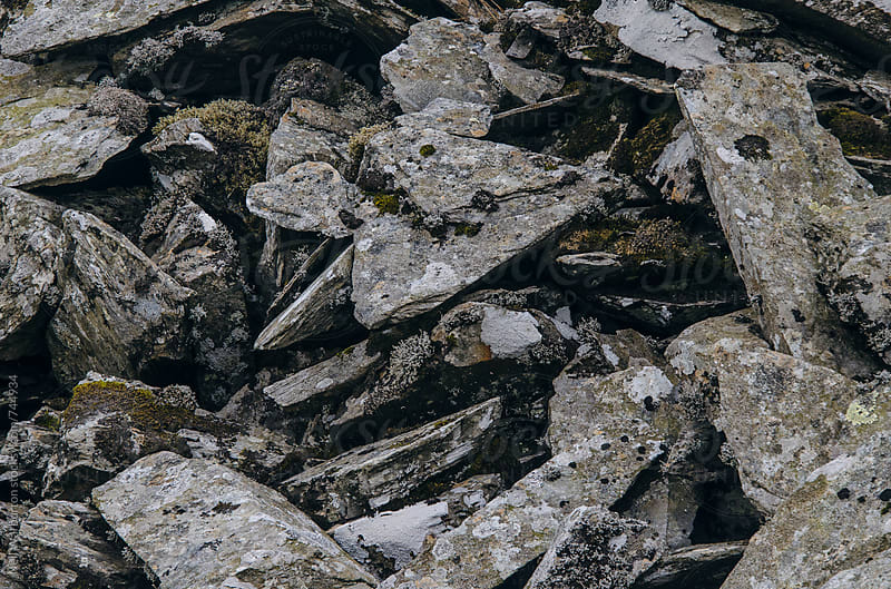Pile of discarded rocks at mine workings by Neil Warburton for Stocksy United