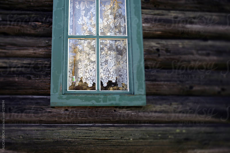 Log Cabin Window by ALICIA BOCK for Stocksy United
